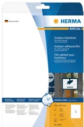 Etiket Herma 9500 A4 210x297mm polyethyleen 10stuks wit