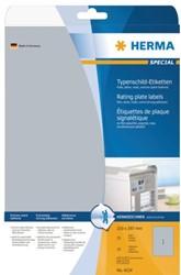 Etiket Herma 4216 105x148mm folie 100stuks zilver