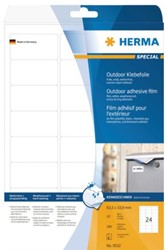 Etiket Herma 9532 63.5x33.9mm polyester 240stuks wit