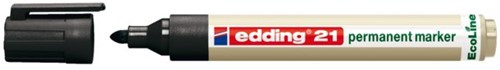 Viltstift edding 21 Eco rond zwart 1.5-3mm