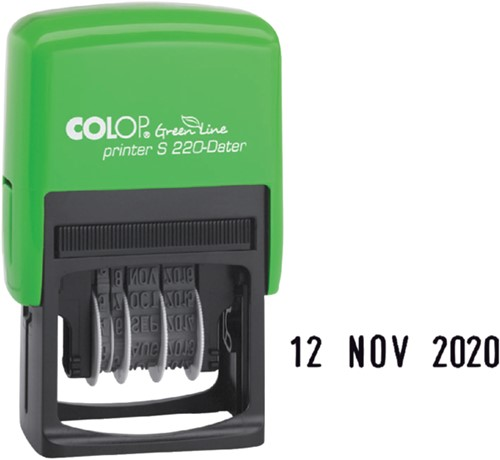 Datumstempel Colop S220 green line 4mm-2