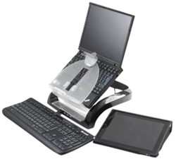 Laptopstandaard Fellowes Smart Suites zwart/transparant