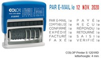 Woord-datumstempel Colop S120 mini-info dater 4mm frans