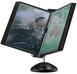 Bureaustandaard Flex-O-Frame Vip met 10-tassen grijs