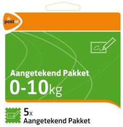 Pakketzegel aangetekend pakket zelfklevend 0-10 kg