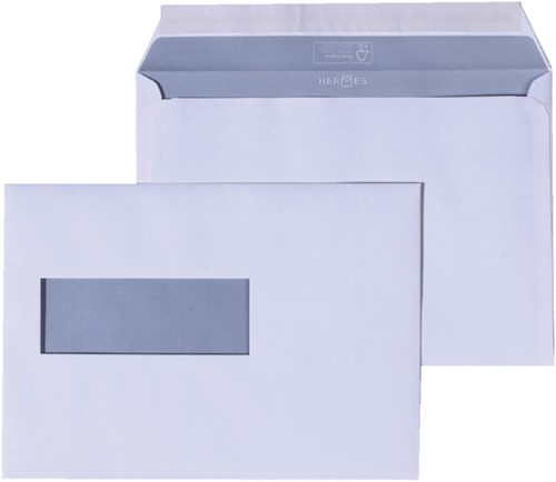 Envelop Hermes EA5 156x220mm venster 4x11links zelfkl 50stuk-2