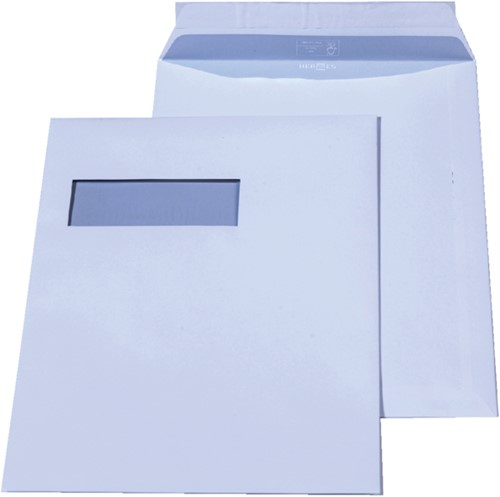 Envelop Hermes akte C4 229x324mm venster 4x11links 250stuks-2