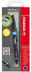 Balpen Stabilo Smartball links zwart/blauw 0.5mm blister