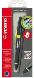 Balpen Stabilo Smartball rechts zwart/kiwi 0.5mm  blister