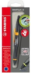 Balpen Stabilo Smartball rechts zwart/oranje 0.5mm blister