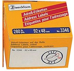 Etiket Avery Zweckform 3346 92x48mm 280stuks