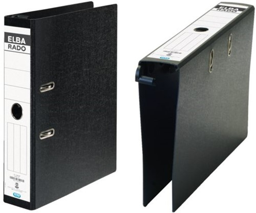 Hangordner Elba Rado 45mm karton zwart gewolkt-2