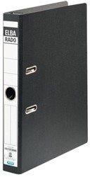 Hangordner Elba Rado Plast 45mm karton zwart gewolkt