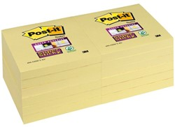 Memoblok 3M Post-it 654-SSY Super Sticky 76x76mm geel
