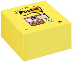 Memoblok 3M Post-it 2028 Super Sticky 76x76mm kubus neon geel