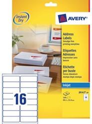 Etiket Avery J8162-10 99.1x33.9mm wit 160stuks
