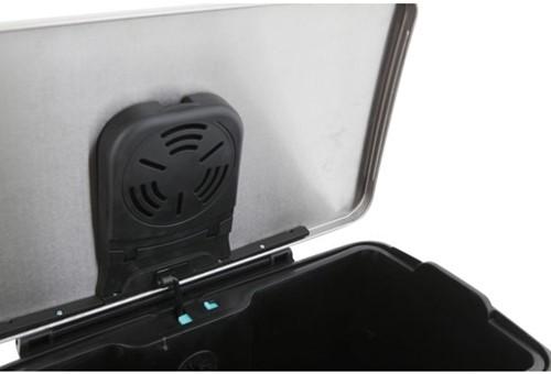 Afvalbak pedaalemmer E-Cube RVS mat rechthoekig 50liter-2
