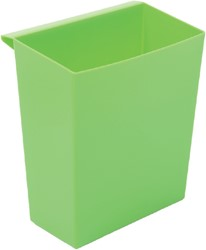 Inzetbak voor vierkante tapse papierbak groen