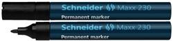 Viltstift Schneider 230 rond zwart 1-3mm