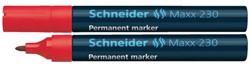 Viltstift Schneider 230 rond rood 1-3mm