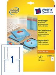 Cd inlegkaart Avery C32250-25 151x118mm 170gr