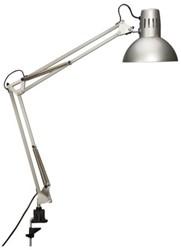 Bureaulamp MAUL Study incl. spaarlamp tafelklem zilver