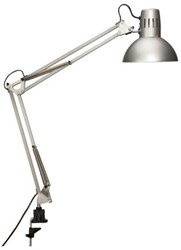 Spaarlamp MAULstudy met spaarlamp en tafelklem zilvergrijs