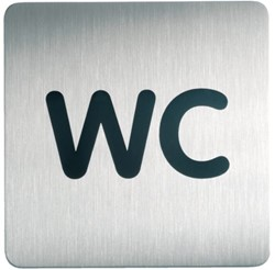 Infobord pictogram Durable 4957 vierkant wc 150mm