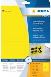 Etiket Herma 8032 105x148mm folie geel 100stuks