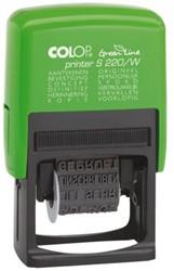 Woordstempel Colop 220W green line