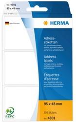 Etiket Herma adres 4301 95x48mm 250stuks zig-zag