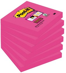 Memoblok 3M Post-it 654 Super Sticky 76x76mm fuchsia