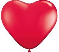 Ballonnen Folat hart rood 8stuks 30cm-2