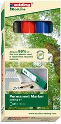 Viltstift edding 21 Eco rond assorti 1.5-3mm doos à 4st