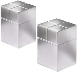 Glasbordmagneet Sigel Artverum 20x20x30mm nikkel 2stuks