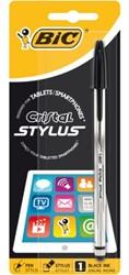 Balpen Bic Cristal Stylus zwart medium blister