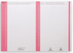 Ruiterstrook Elba Nr 8 138x6mm lateraal roze
