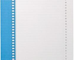Ruiterstrook Elba Nr 0 297x6mm verticaal blauw