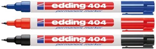 Viltstift edding 404 rond blauw 0.75mm-2