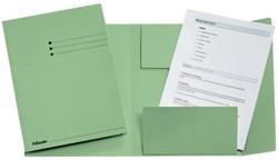 Dossiermap Esselte A4 3 kleppen manilla 275gr groen