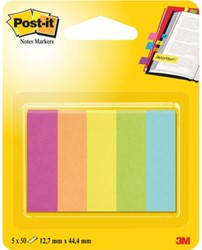 Indextabs 3M Post-it 670 Capetown 12.7x44.4mm papier 5 kleuren