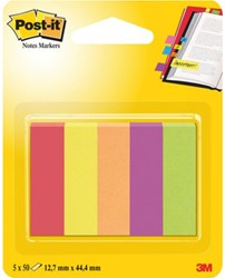 Indextabs 3M Post-it 670 Jaipur 12.7x44.4mm papier 5 kleuren