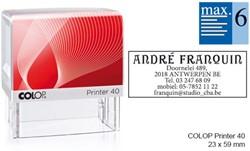 Tekststempel Colop Printer 40 +bon 6regels 59x23Mm