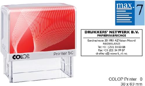 Tekststempel Colop Printer 50 +bon 7regels 69x30mm