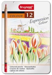 Kleurpotloden Bruynzeel Expression 7705 ass  blik à 12 stuks