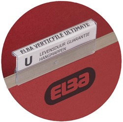 Ruiters Elba tbv vertifile hangmappen 65mm transparant incl ruiterstrook