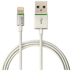 Kabel Leitz USB Lightning-A 1 meter wit