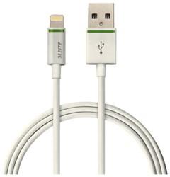 Oplaadkabel Leitz Complete Lightning-USB 200cm wit