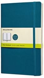 Notitieboek Moleskine large 130x210 blanco onderwater blauw