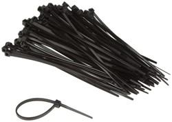 Inbindstrips nylon 2,5x100mm Ø20,5mm zwart